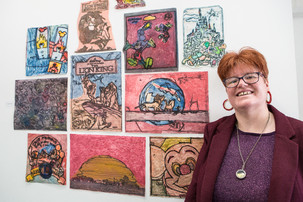 ROSIE'S BRUSH WITH SUCCESS AS ART GOES ON SHOW