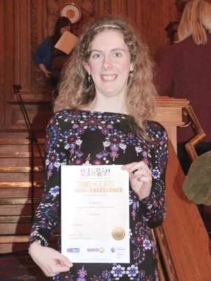 Helen picks up Volunteer Millennium Award